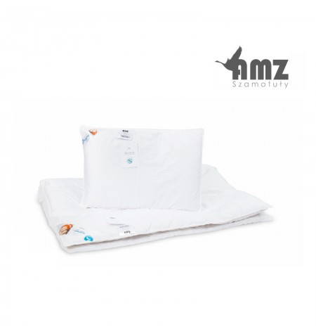 Poduszka i kołdra puchowa dziecięca AMZ Basic+
