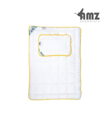 Poduszka i kołdra antyalergiczna dziecięca AMZ Niedźwiadek Honey