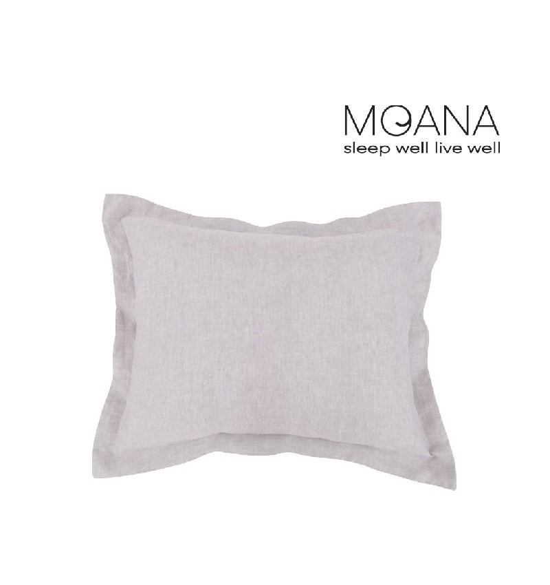 Poszewka na poduszkę lniana MOANA Silver Birch