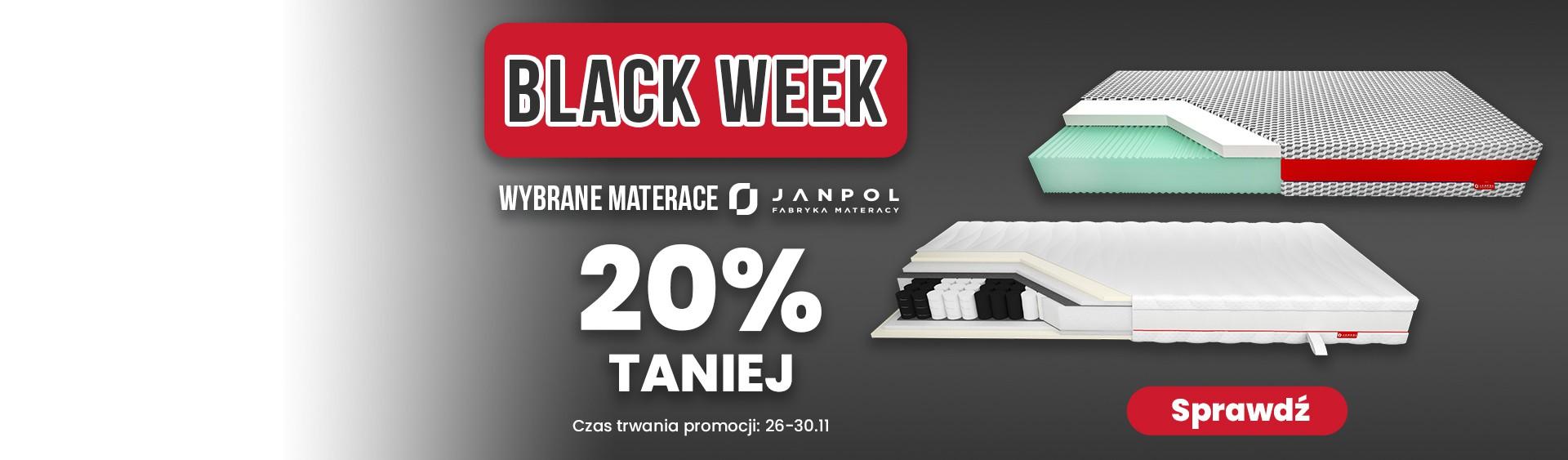 Materace Janpol - promocja Black Week
